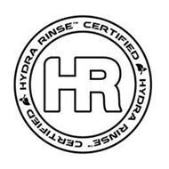 HYDRA RINSE CERTIFIED HYDRA RINSE CERTIFIED HR