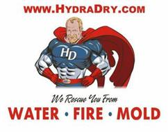 WWW.HYDRADRY.COM HD HYDRA DRY WE RESCUE YOU FROM WATER FIRE MOLD