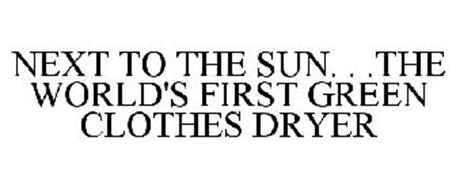 NEXT TO THE SUN. . .THE WORLD'S FIRST GREEN CLOTHES DRYER