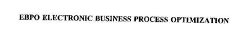 EBPO ELECTRONIC BUSINESS PROCESS OPTIMIZATION