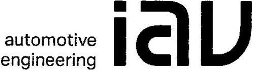 IAV AUTOMOTIVE ENGINEERING Trademark of IAV GmbH ...