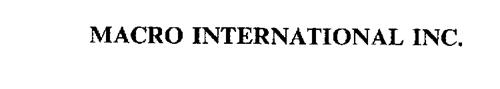 MACRO INTERNATIONAL INC.