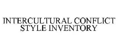 INTERCULTURAL CONFLICT STYLE INVENTORY