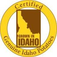 CERTIFIED GENUINE IDAHO POTATOES GROWN IN IDAHO
