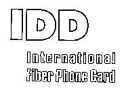 IDD INTERNATIONAL FIBER PHONE CARD