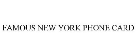 FAMOUS NEW YORK PHONE CARD