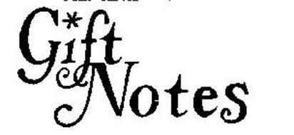 GIFT NOTES