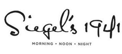 SIEGEL'S 1941 MORNING · NOON · NIGHT