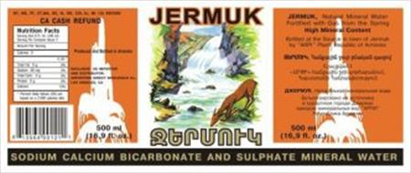 Jermuk sodium calcium bicarbonate and sulphite mineral for Import direct inc