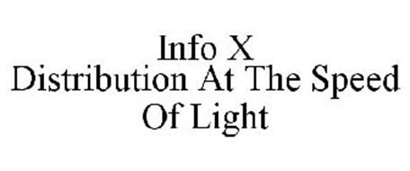 INFO X DISTRIBUTION AT THE SPEED OF LIGHT