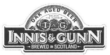 INNIS & GUNN BREWED I&G IN SCOTLAND OAK AGED BEER