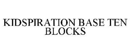 KIDSPIRATION BASE TEN BLOCKS