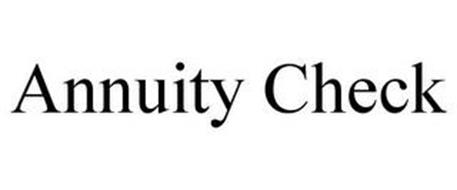 ANNUITY CHECK