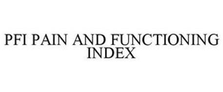 PFI PAIN AND FUNCTIONING INDEX