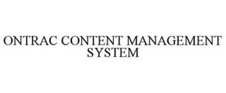 ONTRAC CONTENT MANAGEMENT SYSTEM