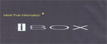 MORE THAN INFORMATION IBOX