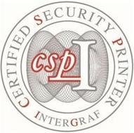 CERTIFIED SECURITY PRINTER INTERGRAF CSPI