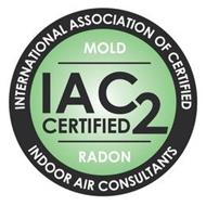 INTERNATIONAL ASSOCIATION OF CERTIFIED INDOOR AIR CONSULTANTS MOLD IAC2 CERTIFIED RADON
