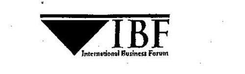 IBF INTERNATIONAL BUSINESS FORUM