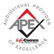 APEX INFOCOMM INTERNATIONAL AUDIOVISUALPROVIDER OF EXCELLENCE