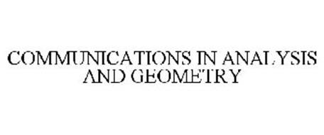 COMMUNICATIONS IN ANALYSIS AND GEOMETRY
