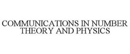 COMMUNICATIONS IN NUMBER THEORY AND PHYSICS