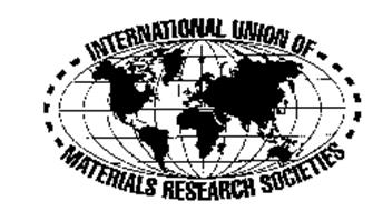 INTERNATIONAL UNION OF MATERIALS RESEARCH SOCIETIES