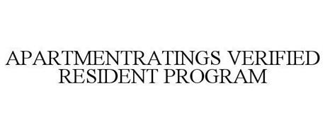 APARTMENTRATINGS VERIFIED RESIDENT PROGRAM