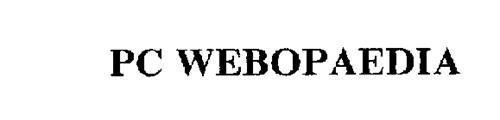 PC WEBOPAEDIA