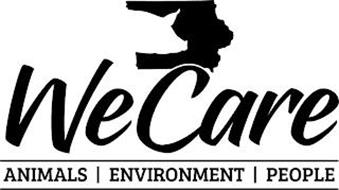 WE CARE ANIMALS ENVIRONMENT PEOPLE