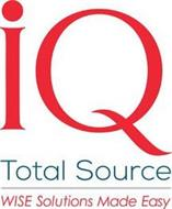 IQ TOTAL SOURCE WISE SOLUTIONS MADE EASY