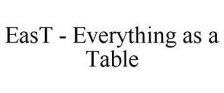 EAST - EVERYTHING AS A TABLE