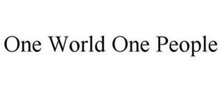 ONE WORLD ONE PEOPLE