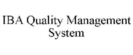 IBA QUALITY MANAGEMENT SYSTEM