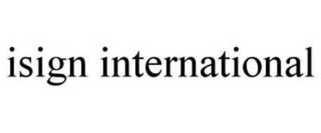 ISIGN INTERNATIONAL