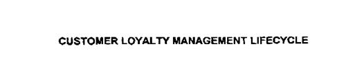 CUSTOMER LOYALTY MANAGEMENT LIFECYCLE