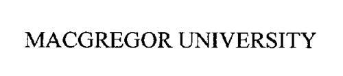 MACGREGOR UNIVERSITY