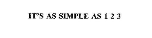 IT'S AS SIMPLE AS 1 2 3