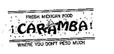 FRESH MEXICAN FOOD CARAMBA! WHERE YOU DON'T PESO MUCH
