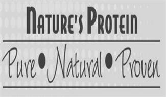 NATURE'S PROTEIN PURE NATURAL PROVEN