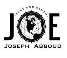 JOE JUST ONE EARTH JOSEPH ABBOUD