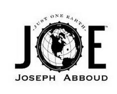 JOE JUST ONE EARTH JOSEPH ABBOUD