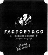 FACTORY & CO HOMEMADE SINCE 1989 NEW YORK BAKERY CAFÉ ... FOR TASTY FOOD LOVERS!!!
