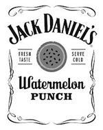 JACK DANIEL'S FRESH TASTE SERVE COLD WATERMELON PUNCH