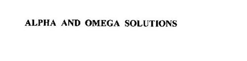 ALPHA AND OMEGA SOLUTIONS