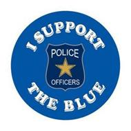 I SUPPORT POLICE OFFICERS THE BLUE