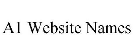 A1 WEBSITE NAMES