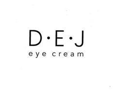 D · E · J EYE CREAM