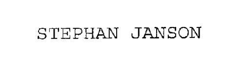 STEPHAN JANSON