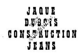 JAQUE DUBOIS CONTRUCTION JEANS THE ORIGINAL